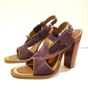 Prada womens size 39 purple cross strap